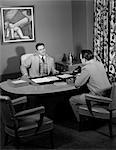 1950s MEN BUSINESS MEETING DESK SUIT