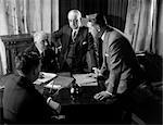 1930s RETRO MEN DESK MEETING SUITS BUSINESS
