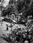 1920s 1930s LOCAL NATIVE MARKET MARKETS AT DEU PASAR BALI INDONESIA