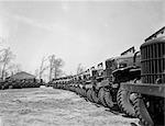 1940s APRIL 19 1941 ALIGNMENT ROW ROWS DODGE ARMY TRUCKS FORT DIX NJ
