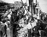 PROHIBITION JUNE 8 1928 OFFICERS ABOARD CAPTURED TUG GERONIMO DETROIT MI SEIZE 500 CASES CHAMPAGNE 1000 OF BEER 1920s