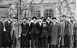 ANNÉES 1910 1911 PORTRAIT GROUPE D'HOMMES FERME ÉTUDIANTS UNIVERSITÉ DU MISSOURI, COLUMBIA MISSOURI