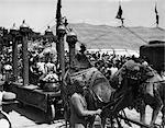 1920s 1930s RETRO CIRCUS PARADE CROWD BIG TOP TENT