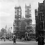 1950ER JAHRE STREET SCENE STADT LONDON WESTMINSTER ABBEY ENGLAND GROßBRITANNIEN GROSSBRITANNIEN