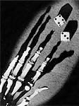 SKELETAL HAND CASTING DICE