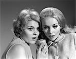 1950s WOMEN TELEPHONE LISTEN EAVESDROP SHOCK SECRET