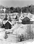 1970ER JAHREN WINTER LANDSCHAFTLICH WARTET RIVER JUNCTION VERMONT
