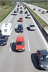 Surcharge du trafic sur l'autoroute, Hambourg, Allemagne