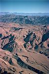 Des ravins et des montagnes nues dans la zone de Bolan du Balouchistan, Pakistan, Asie