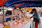 Étal de marché, Sarlat, Dordogne, France, Europe