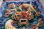 Detail on new Chinese Temple, Kuala Lumpur, Malaysia, Southeast Asia, Asia