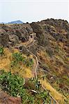 Irrigation canal near Alajero, La Gomera, Canary Islands, Spain, Atlantic, Europe