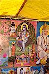 Images religieuses à bétail juste près de Dechhu, Rajasthan État, Inde, Asie