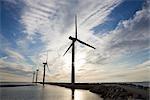 Wind Turbines, Ebeltoft, Syddjurs municipalité, Région Midtjylland, Jutland, Danemark