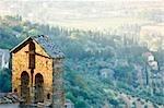 Church Steeple, Cortona, Province of Arezzo, Tuscany, Italy