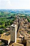 San Gimignano, Province de Sienne, Toscane, Italie