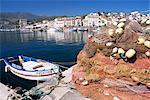 Fishing nets, Port Vendres, Catalan coast, Roussillon, France, Europe