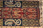 Détail de l'ikat couverture, île de Sumba (Indonésie), l'Asie du sud-est, Asie