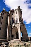 Entrance to Bishops Palace, by Gaudi, Astorga, Leon, Spain, Europe