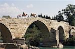 Pont seldjoukide au-dessus de Rivière Kopru, près d'Antalya, Anatolie, Turquie, Asie mineure, Aspendos, Eurasie