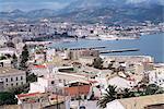 Vue sur le port de l'enclave espagnole de Ceuta, Espagne, espagnol en Afrique du Nord, Afrique