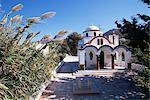 Église de l'île port, Mandraki, de Nissyros, Dodécanèse, Grèce, Europe