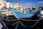 Bateaux à Pothia, Kalymnos, îles du Dodécanèse, îles grecques, Grèce, Europe