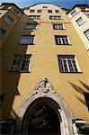 Typical feature, arch doorway, Helsinki, Finland, Scandinavia, Europe