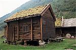 Traditional farm dwellings, Molstertonet Farm Museum, Voss, Norway, Scandinavia, Europe