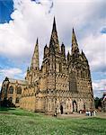 Cathédrale de Lichfield, Lichfield, Staffordshire, Angleterre, Royaume-Uni, Europe