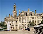 Town Hall, Bradford, Yorkshire, England, United Kingdom, Europe