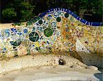 Gaudi Mosaiken, Park Güell, Barcelona, Katalonien, Spanien, Europa