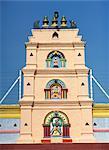 Tower of the Hindu Temple, Sri Pogyatha Vinoyagar in Chinatown, Melaka, Malaysia, Southeast Asia, Asia