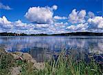 Été, lac ramen, au nord de Filipstad, Eastern Varmland, Suède, Scandinavie, Europe
