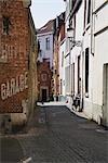 Alley in Brugge, Flanders, Belgium