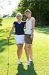 Mutter und Tochter, Golfen