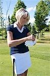 Golfspieler auf Handschuh