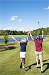Golfer jubeln