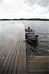 Dock, Bear Island, Temagami, Ontario, Canada