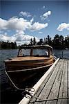 Vintage Motorboat, Ontario, Canada