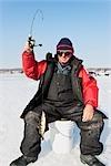 Ice Fishing in Magog, Quebec, Canada