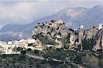 El Castell de Guadalest, Costa Blanca, Alicante, Espagne