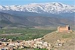 Castillo de La Calahorra, Nevada Sierra à l'arrière-plan, La Calahorra, Andalucia, Espagne