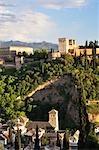The Alhambra, Convento de Santa Catalina de Zafra in the Foreground, Granada, Andalucia, Spain