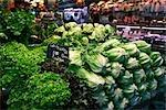 Kopfsalat an Farmer's Market, Spanien.