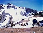 A ski resort, Whistler, British Columbia, Canada, tilt-shift photography