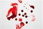 Blut und Fingerabdrücke