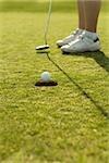 Detail der Golfer setzen