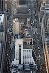Vue des cinquième et sixième Avenues de l'Empire State Building, Manhattan, New York City
