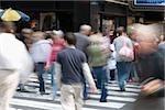 People on a pedestrian crossing, Manhattan, New York City